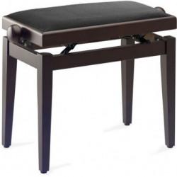Banquette Piano Stagg PB40 noyer mat foncé pelotte velours noir