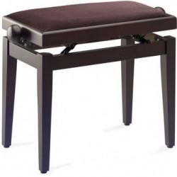 Banquette Piano Stagg PB40 noyer mat foncé pelotte velours brun