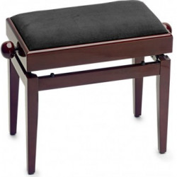 Banquette Piano avec porte partition Stagg PB55 acajou brillant pelotte velours noir