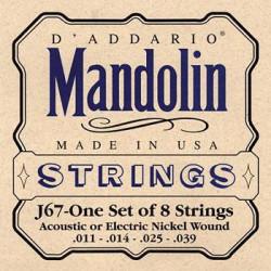 D'Addario J67 11-39 - Jeu de cordes Mandoline