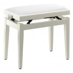 Banquette Piano Stagg PB40 blanc mat pelotte velours blanc