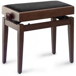 Banquette Piano avec porte partition Stagg PB55 noyer mat pelotte velours noir