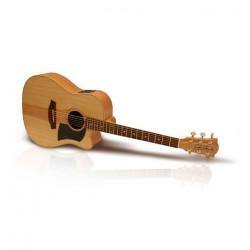 Guitare électroacoustique Cole Clark Fat Lady bunya maple pan coupé FL1ACBM