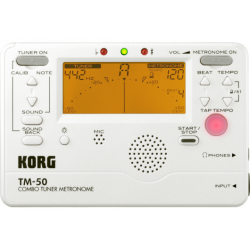 Korg TM-50 blanc - Accordeur chromatique et Métronome