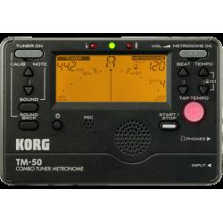 Korg TM-50 noir - Accordeur chromatique et Métronome