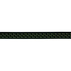 Sangle Guitare Ibanez GST612ML-LG noire avec logo vert