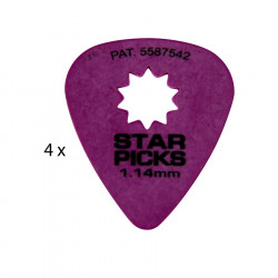 4 Mediators Everly Star Picks - 1,14 mm purple