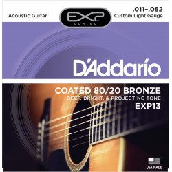 D'Addario EXP13 Custom Light - Jeu de cordes pour guitare acoustique
