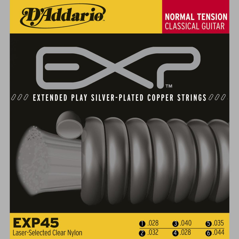 D'Addario EXP45 Tirant normal - Jeu de cordes guitare classique