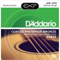 Jeu de cordes pour Guitare acoustique D'Addario Phosphore Bronze Baritone 16-70 - EXP23