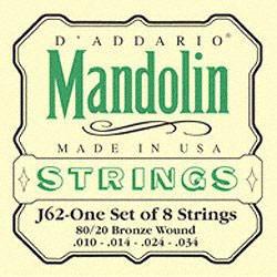 D'Addario J62 10-34 - Jeu de cordes Mandoline