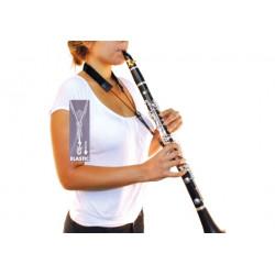 Sangle Clarinette BG C90E - Cool Strap Elastique Noir