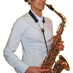 Sangle Saxophone Soprano, Alto ou Tenor BG S80GM Glam - crochet métal