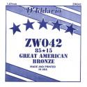 Corde au détail D'Addario pour guitare acoustique 042 85/15 Bronze - ZW042