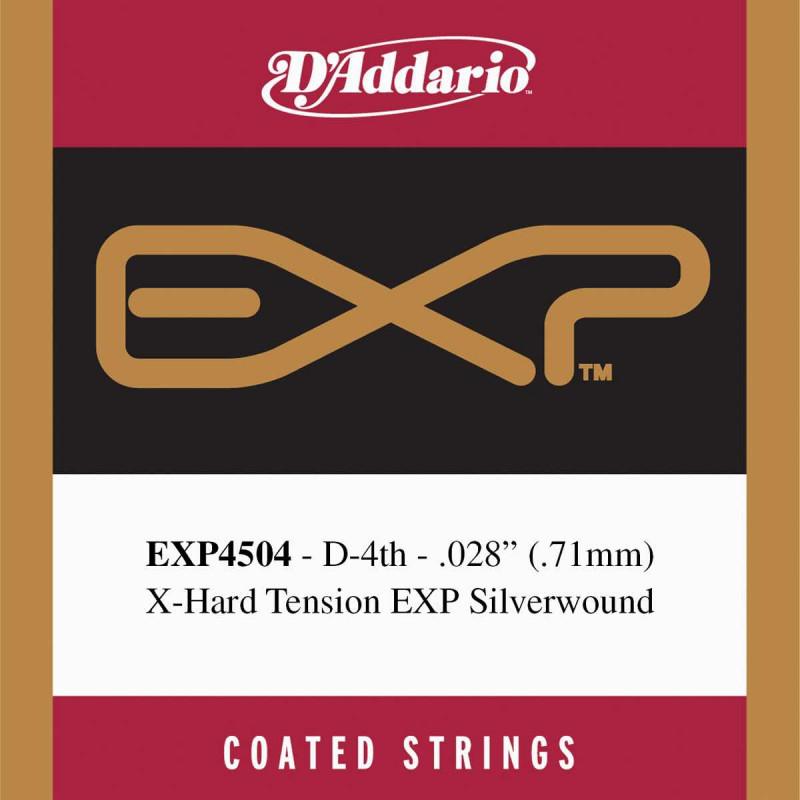 Corde au détail Ré-4 guitare classique D'Addario EXP Tirant fort - EXP4504
