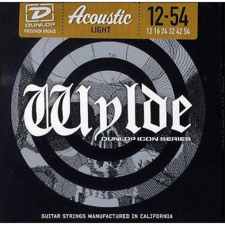 Jeu guitare acoustique Dunlop Zakk Wylde Phosphore bronze light 12-54