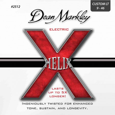 Dean Markley 2512 Helix HD Light - Jeu de cordes guitare électrique