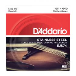 D'Addario EJS74 11-40 médium - Jeu de cordes Mandoline