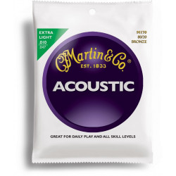 Martin M170 - Jeu de cordes Extra light 10-47 Guitare acoustique