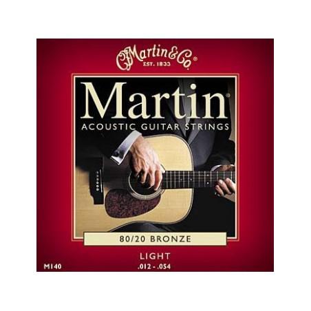 Martin M140 - Jeu de cordes Light 12-54 guitare acoustique