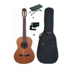 Pack Prodipe PRIMERA 4/4 - Guitare Classique + housse + accordeur + repose pied