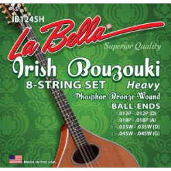Labella IB1245H - Jeu bouzouki irlandais la bella heavy