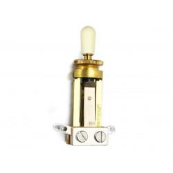 All Parts A-000000-17157  Switchcraft extra long - Sélecteur type LP - doré, bouton crème - Stock B