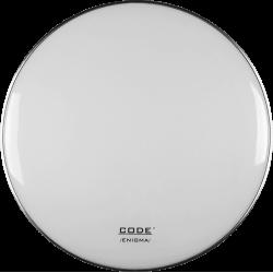 """Code Drumheads EWHR22 - Peau de résonance Enigma grosse caisse - 22"""" White"""