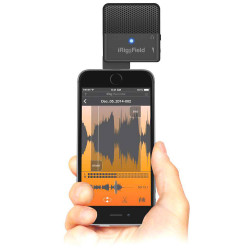 IK Multimedia iRig Mic Field - Micro stéréo pour appareils iOS avec connecteur lightning