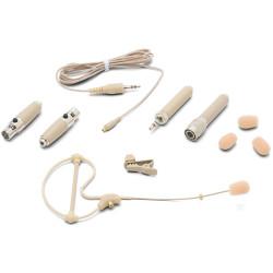 Samson SE10T - Microphone oreilette à condensateur omnidirectionnel – beige (+ accessoires et étui)