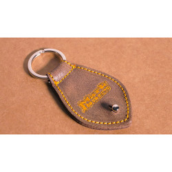 Markbass MB PICKS HOLDER BROWN - Porte Médiators en cuir - couleur brune