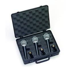 Samson R21S 3 PACK - Pack 3 microphones dynamiques cardioïdes avec interrupteur - en étui