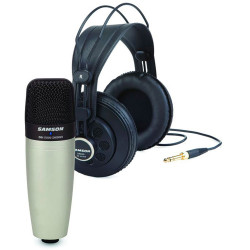 Samson C01/SR850 - Pack microphone à condensateur cardioïde + casque semi-ouvert