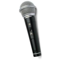 Samson R21S CONSUMER - Microphone dynamique cardioïde - interrupteur - avec pince et câble XLR-Jack