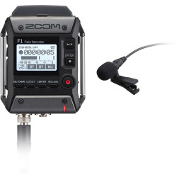 Zoom F1-LP - Enregistreur de terrain 2 pistes + microphone Lavalier