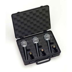 Samson R21 3 PACK - Pack 3 microphones dynamiques cardioïdes - en étui