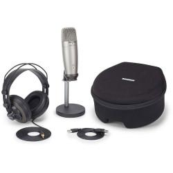 Samson C01U PRO RECORDING PACK - Pack Microphone à condensateur USB hypercardioide + Casque + Support + Housse