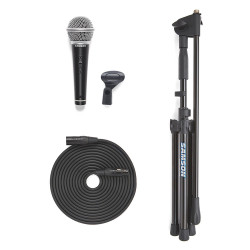 Samson VP-10X - Pack microphone dynamique cardioïde R21S avec pied perche MK10 et câble XLR