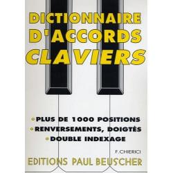 Dictionnaire d'accords pour clavier