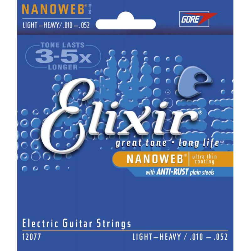Elixir Nanoweb 12077 10-52 - Jeu de cordes guitare électrique