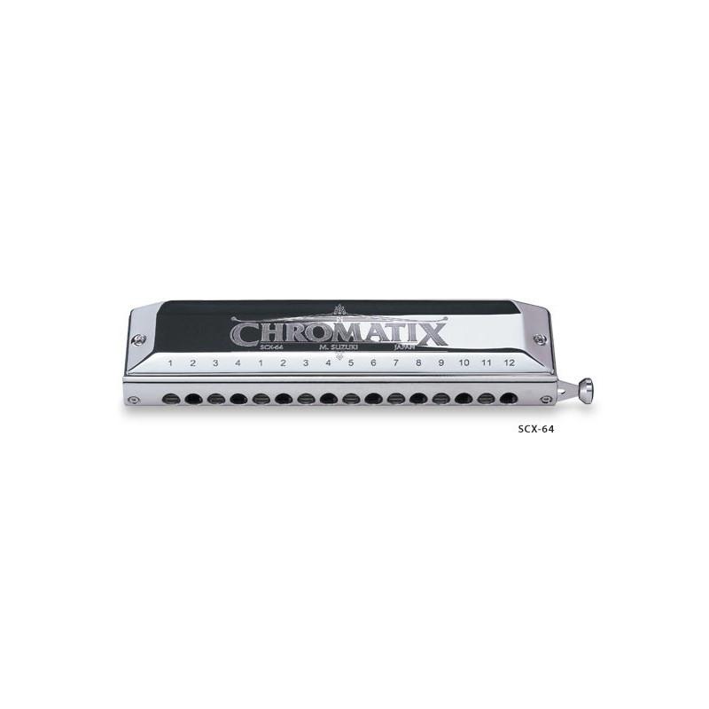 Harmonica chromatique Suzuki Chromatix 12 trous SCX-48 Sol