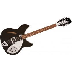 Guitare demi-caisse Rickenbacker 330 JG 12 cordes noire (+ étui)