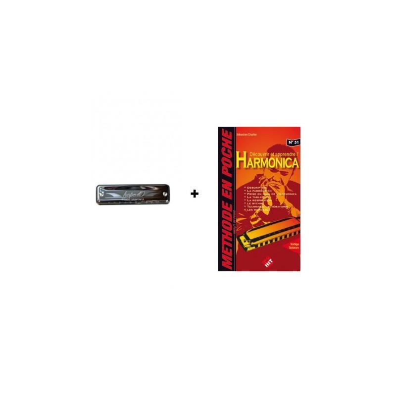 Pack Harmonica débutant : 1 Tombo Hope 10 + 1 méthode de poche Charlier