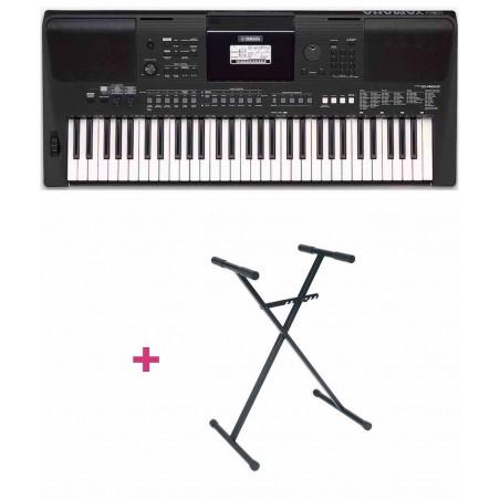 Pack Yamaha PSR-E463 - Clavier arrangeur + Stand en X