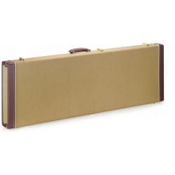 Etui rectangulaire Deluxe Tweed doré pour guitare électrique Stagg GCX-RE-GD