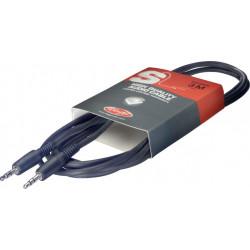 Câble audio deluxe mini jack Stagg SAC1MPS - 1 m stéréo