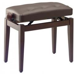Banquette piano Chesterfield Stagg PB43 noyer mat pelotte skai brun