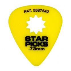 Mediator Everly Star Picks 0.73mm - jaune