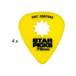 4 Mediators Everly Star Picks - 0,73 mm Jaune