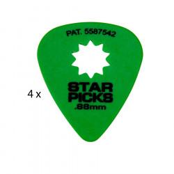 4 Mediators Everly Star Picks - 0,88 mm Vert